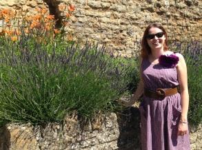 Standing in the garden at Glastonbury Abbey